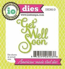 Get Well Soon Text, High Quality Steel Die IMPRESSION OBSESSION - NEW, DIE382-D