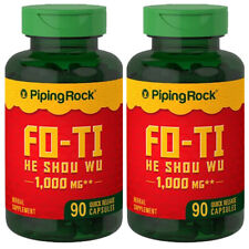 Piping FO-TI 1000mg EXTRACT He-Shou-Wu Root 2X90 or180Caps Polygonum multiflor