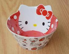 New Cute Red Hello Kitty Food Fruit Rice Soup Bowl Kitchen Die-Cut Melamine Bowl