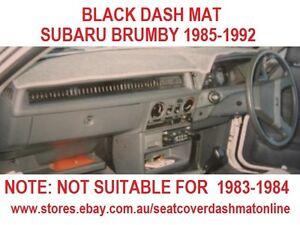 DASH MAT, DASHMAT,DASHBOARD COVER FIT SUBARU BRUMBY 1985-1992, BLACK