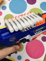 Nerf Gun Dart Ammo Holder Mount - clips onto gun, includes 10 free darts