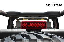 Vinyl Decal 3rd Brake Light Cover Army Kit for Jeep Wrangler 07-12 Matte Black