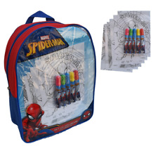 SPIDERMAN transparent backpack 32 cm with accessories