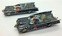 x 2 CORGI TOYS 267 Batmobile  Batman Original Vintage Models - For Restoration
