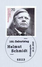 BRD 2018: Helmut Schmidt Nr. 3429 mit Bonner Ersttagssonderstempel! 1A! 1901
