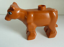 1 x LEGO® Duplo Tier Kuh braun wie auf dem Foto Gebrauchtware.