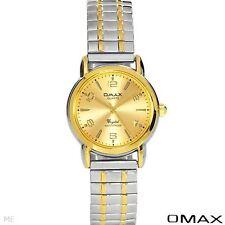 OMAX QUARTZ LADIES WATCH TWO TONE BASE METAL MODEL ex0026 #81