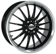 "17"" TEAM DYNAMICS JET GLOSS BLACK POLISHED LIP ALLOY WHEELS ONLY BRAND NEW"