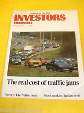 INVESTORS CHRONICLE - REAL COST OF TRAFFIC JAMS - MAY 12 1989