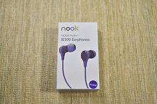 ORIGINAL Barnes & Noble NOOK aUDIO IE500 EARPHONES - PURPLE