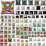 Retro Funda De Cojín Almohada Lona Cómodo Sofá Coche Decoración Pillow Cover
