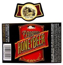 Portland Brewing Co OREGON HONEYBEER paper beer label OR 12oz Var. #