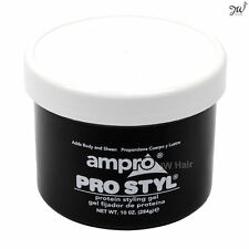 Ampro Pro Styl Protein Styling Hair Gel Regular Hold Wax Protein Non-Greasy 10oz