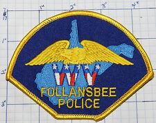 WEST VIRGINIA, FOLLANSBEE POLICE DEPT EAGLE PATCH