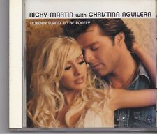 Ricky MArtin With Christina Aguilera -Nobody Wants To Be Lonely Promo cd single