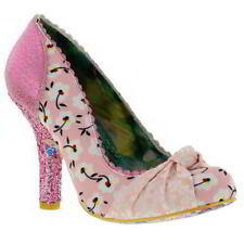 Party Synthetic Leather Floral Slim Heels for Women