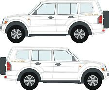 Mitsubishi Shogun Pajero ECI-MULTI V6 3000 decals stickers x2