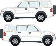 Mitsubishi Shogun Pajero ECI-MULTI V6 3000 decals stickers x2