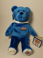 "Original Holy Bear 2003 EMT's Blue God Bless Our EMS 9"" Plush Bear Stuffed Toy"