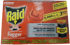 Raid Concentrated Deep Reach Fogger 1.5oz cans 3-Pack Kills Ants Roaches Spider