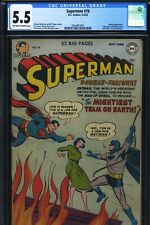 SUPERMAN #76- CGC-5.5, OW-W - Superman and Batman first learn each others I.D.