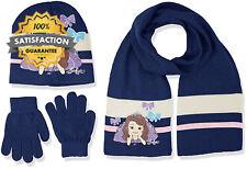 Disney Girl's Sofia Hat Scarf and Glove Set