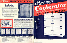 Coolerator Commercial Refrigerators Display Cases 1940 Brochure Various Models