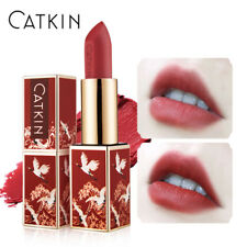 NEW CATKIN lipstick rouge matte red silky smooth lip makeup waterproof lasting