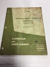 FOX IN-HEAD KNIFE GRINDER 0162 NO.716-10000 INSTRUCTION & PARTS MANUAL (G20)