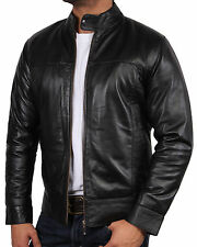 Infinity Zip Leather Collared Coats & Jackets for Men