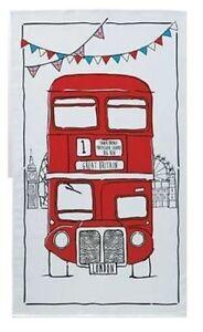 Sketchy London Bus Tea Towel British Souvenir Gift