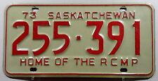 """Canada Nummernschild aus Saskatchewan """"HOME OF THE RCMP"""" von 1973. 9404."""