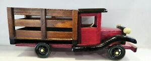 wooden truck show piece table/showcase top item for decoration