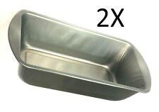 2 X Metal Bakeware Oven Baking Pan Bread & Loaf Meatloaf Cake