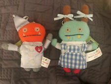 GUND UGLYDOLL Wizard Of Oz Dorothy & Tin Man Clips NEW With Tags