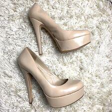 ALDO Beige Leather High Platform Stiletto Heels UK Size 4 EU 37 US 6