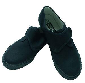 School Uniform Girls/Boys Zeco Black Plimsoles Plimsolls  Sizes 6-13 1-2