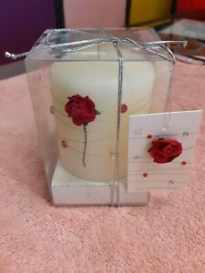 Rose Scented Christmas Candle With Gift Box