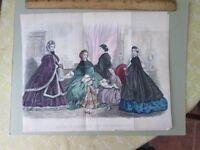 Vintage Print,NOVEMBER,Fashion,Godeys,1862