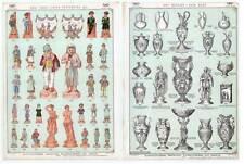 Terrakotta-Figuren-Terra Cotta-Vasen-Keramik-Lava-Töpferei - Katalog-Litho 1890
