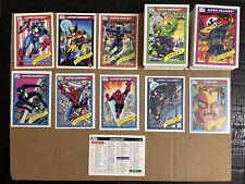 1990 Marvel Universe Comic Cards Series 1 Impel Complete Base Set 1-162 NM/MT