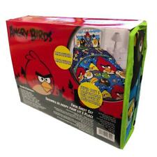 Official Angry Birds Microfiber Twin Sheet Set Flat & Fitted Sheet Pillow Case