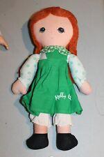 "VTG 12"" Knickerbocker Rag Cloth Doll Kelly Girl Holly Hobbie Type Rare Ireland"