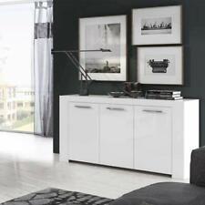 Credenza buffet bianca 144 cm Mobile multiuso moderno 3 ante cucina soggiorno