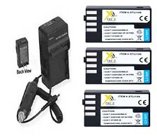 3X D-LI109 Batteries + Charger for Pentax SLR K-R K-50 K50 K-30 K-S1 KS1 K-500