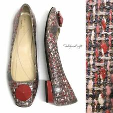 KATE SPADE Newbury GLITTER TWEED Ballet Flats SPARKLE Shoes w/ BAG 6 RARE! HTF