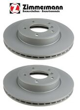 BMW 323i Z3 Z4 E46 E36 E85 Set Pair of 2 Front Vented Brake Rotors Zimmermann