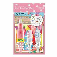 New PLUS Deco Rush DIY Decorative Adhesive Decoration Tape Pen Story Pack -Party
