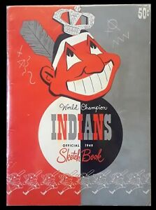 1949 World Champion Cleveland Indians Official Sketch Book