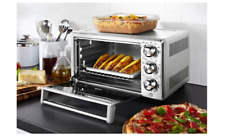 Convection Toaster Oven 6 Slice Brushed Stainless Steel Family-Size Pizza Cook